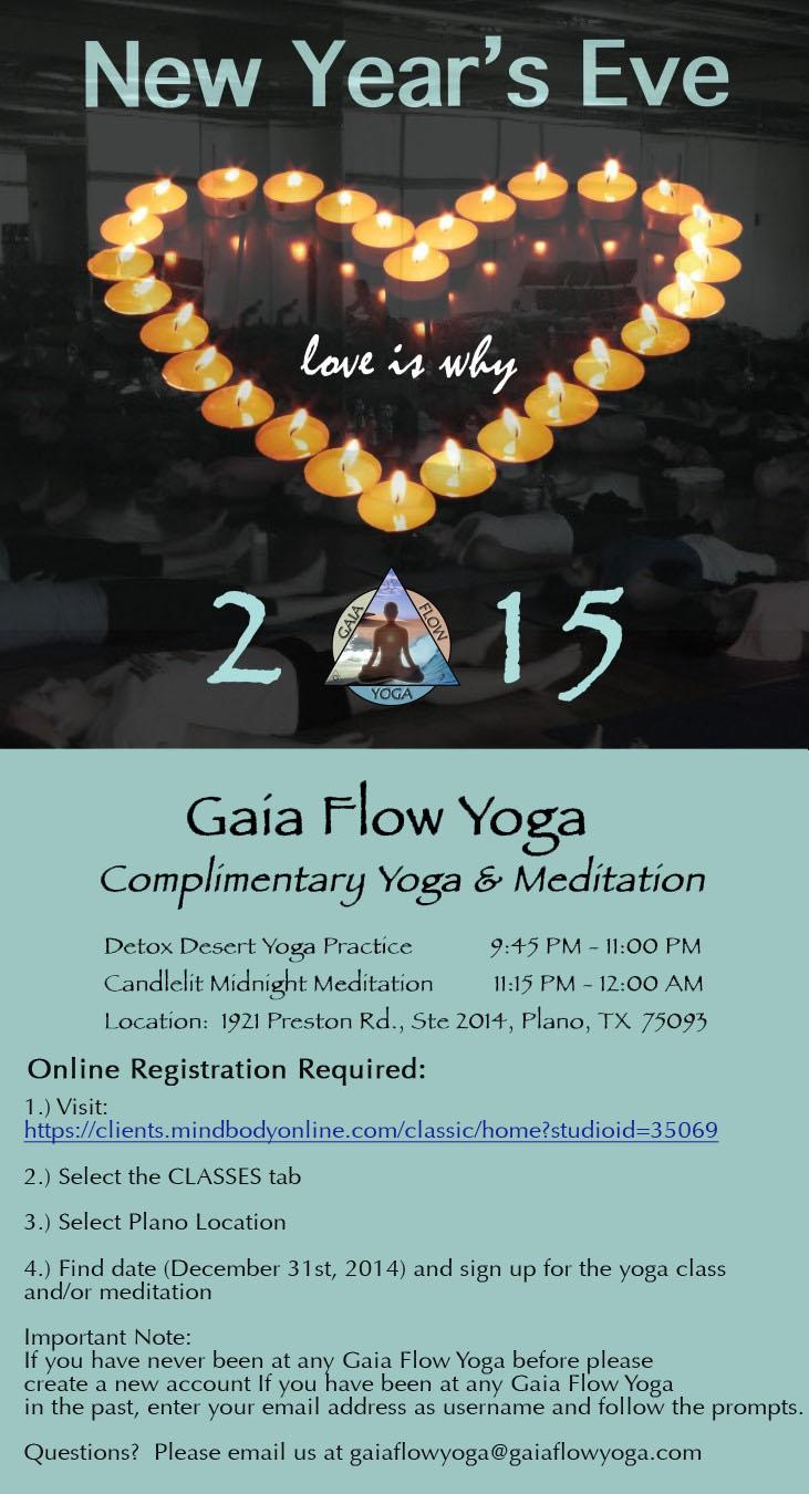 Gaia Flow Yoga New Year's Eve Celebration